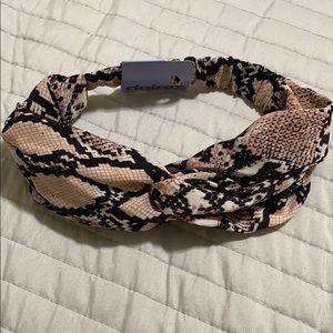 NWT Claire's headband sneak print